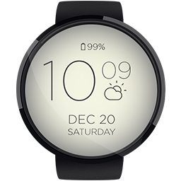 Android App AllText HD Watchface